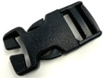 1 inch black field repair side release buckle