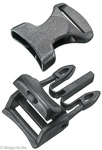 1 inch black side release buckle with cam