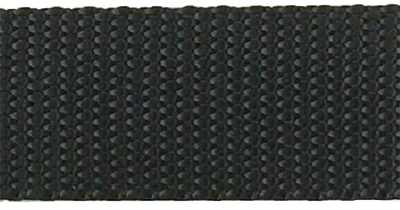 1 inch black heavyweight nylon webbing