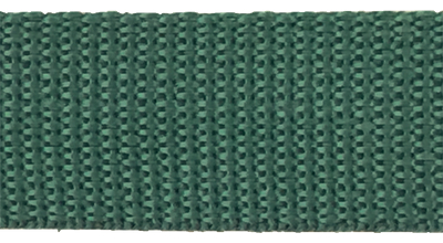 1 inch forest green poly webbing