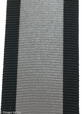 1 Inch Black Polyester Webbing With Reflective Strip