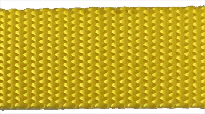 1 inch yellow heavyweight nylon webbing