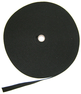 3 inch black heavyweight poly webbing
