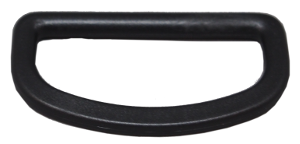 2 inch black plastic D-Ring