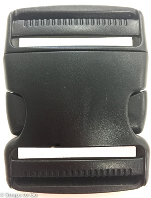 2 inch black double adjust side release buckle