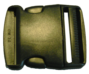 2 inch black side release buckle