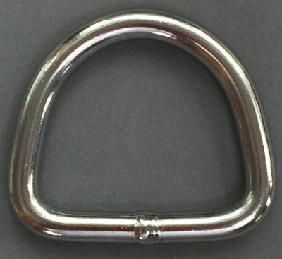 "2 Inch Stainless Steel D Ring- 5/15"" diameter"