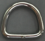 "1½ Inch Stainless Steel D Ring- 1/4"" diameter"