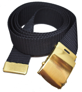 Black web belt